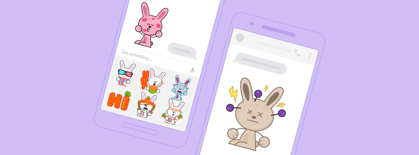 Messenger sticker bunny