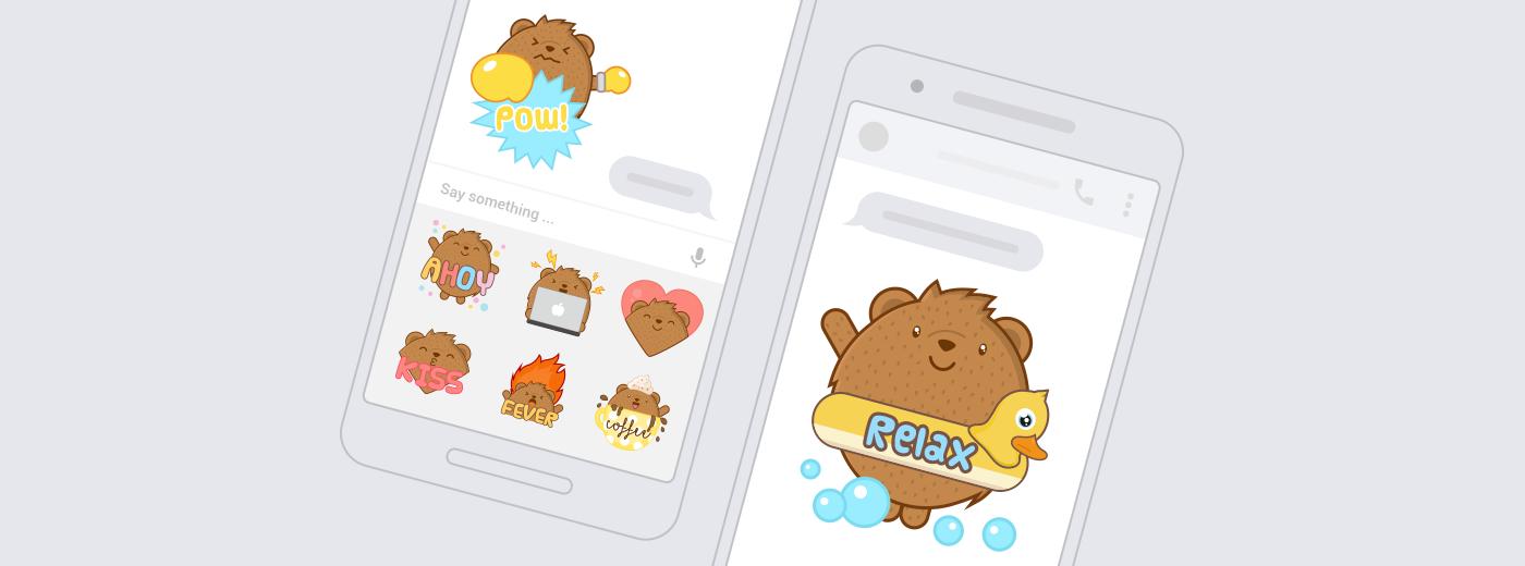 Messenger sticker bear